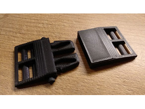 Mask strap quick release buckle