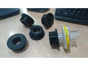 Adapter RD40 DIN - 22mm medical filter