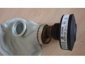 Gas mask adapter - 50mm Scott Safety P3 filter to GOST