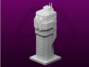 GreebleCity Cyberpunk: Big Chunky Tower