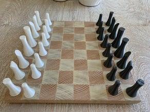 Sleek Chess Set (No Supports)