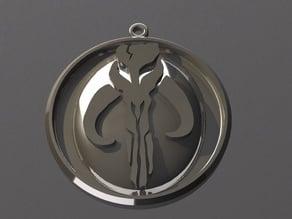 Boba Fett Mandalorian Mythosaur High Relief Ornament