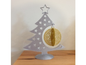 Large Christmas Bauble and Display Tree