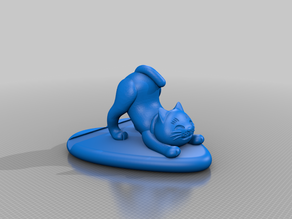 Cat cell phone holder remix optimized for FDM Printing
