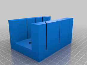 One more parametrized Miter box (Open SCAD)