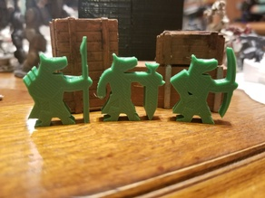 Canid Soldiers (Meeples)