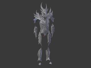 Daedric Armor split for smaller printers