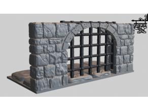 OpenForge 2 Dungeon Stone Portcullis
