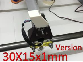 MPCNC Bracket for 30x15x1mm profile drag chain