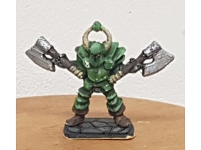 heroquest chaos warrior with double axe