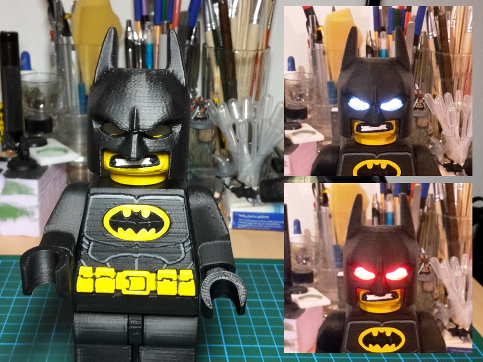 Minifig Protector of Gotham City with LED (optional)