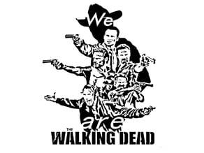 Walking Dead stencil