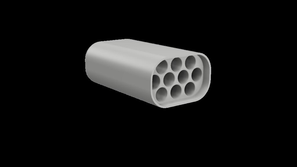 10 Slot Cigarette Case W/ Lid
