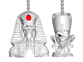 Undead Pharaoh | Queen Pull Ball Chain  or Keychain Knob | Handle | Fob | Finials