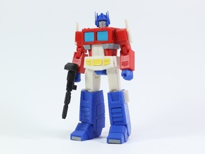 Articulated G1 Transformers Optimus Prime - No Supports