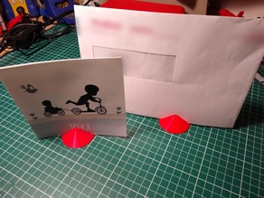 Card, letter, note, photo Stand, simple to print and use