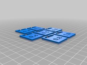 3D Printer Nozzle Size Tags