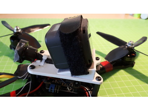 Topplate Lumeier QAV-X(S)/ Realacc X210/XS220e with GoPro Session Mount 20 - 45°