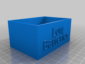 Low battery holder