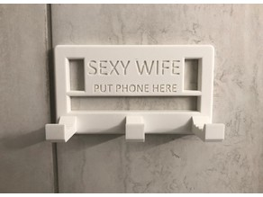 Shower Phone Mount With Adjustable Angles (Sexy Wife Version)