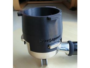 Coffee dosing funnel for 54 mm Breville Portafilter
