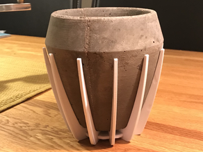 Printable mold for concrete flower pot