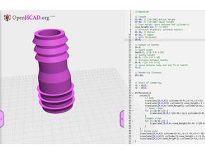 Hose adapter configurable - OpenJSCAD version
