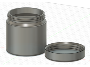 Threaded jar with lid