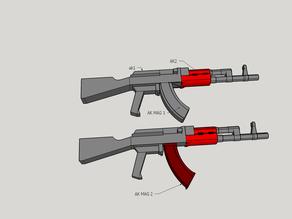 gundam 1/144 ak 47  machine gun