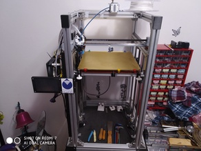 Simple linear rail cube 3D printer with Duet 2 Wifi