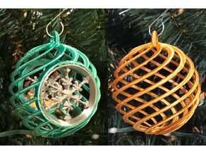 Festive Spiral Christmas Ornaments