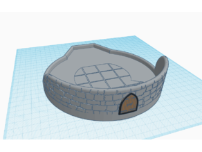 Detailed Base for Three-path Dice Tower V.2