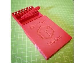 Small Toolbox for 3D Printer Parts (Bolts, Nuts, Nozzles)