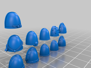 Space Marine Shoulder Pads - Blank