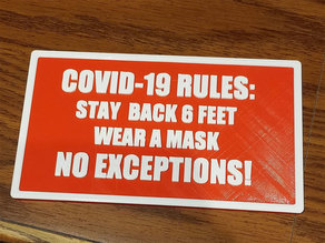 COVID-19 RULES for cube dwellers