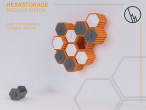 HEXASTORAGE - MODULAR HEXAGON STORAGE SYSTEM