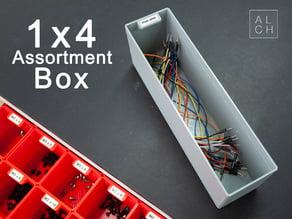 Assortment system box 1x4