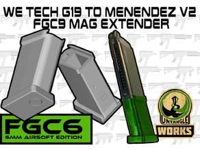 WE TECH G19 to Menendez v2 FGC9 mag extender