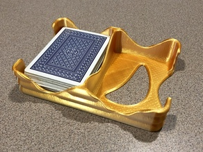 Wavy Card Tray - Dual Deck Playing Card Holder
