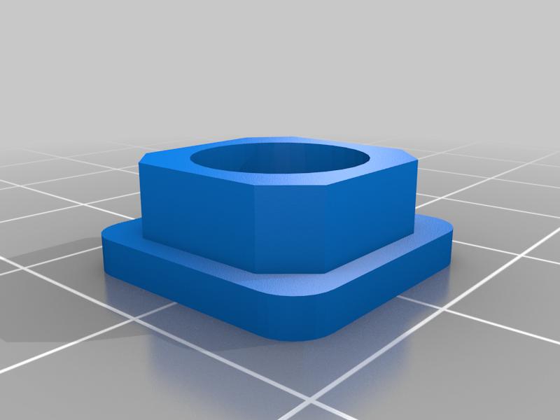 Steel tube end cap 15x15x1.5mm