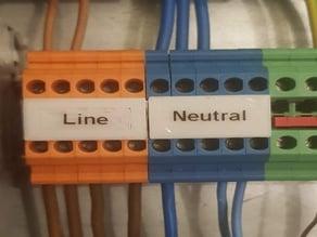 DIN Terminal Block Label - 5.2mm Pitch, 5 Pins