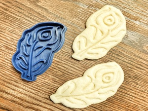 Peacock Feather Cookie Cutter