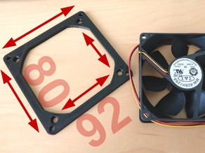 Super thin fan adapter 92 to 80mm reduction