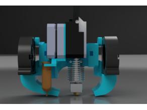 Titan Duty CR10/Ender 3 E3Dv6 direct mount with Dual 5015 Fan