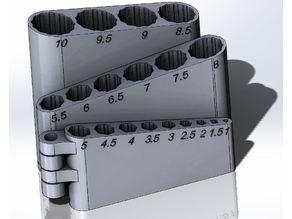 Foldable drill organizer