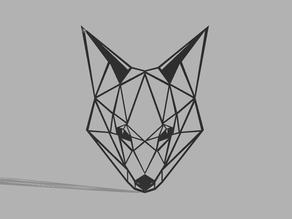 Low poly Fox decoration