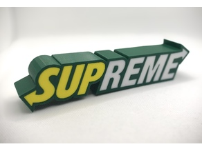 SUBWAY SUPREME logo paperweight