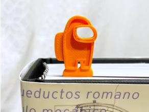 Among Us Bookmark - longer bookmark; rectangular shape