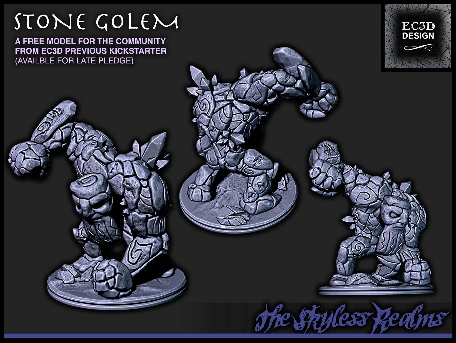Stone Golem - 28mm Gaming - The Skyless Realms
