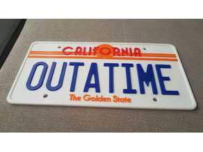 Back to the Future License Plate OUTATIME (75% from original)
